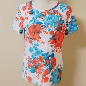 East 5th floral textured blouse size medium